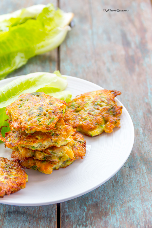 Chickpea Zucchini Fritters | Flavor Quotient | There is really something special about these zucchini fritters; they are crunchy, flavorful and so full of greens!