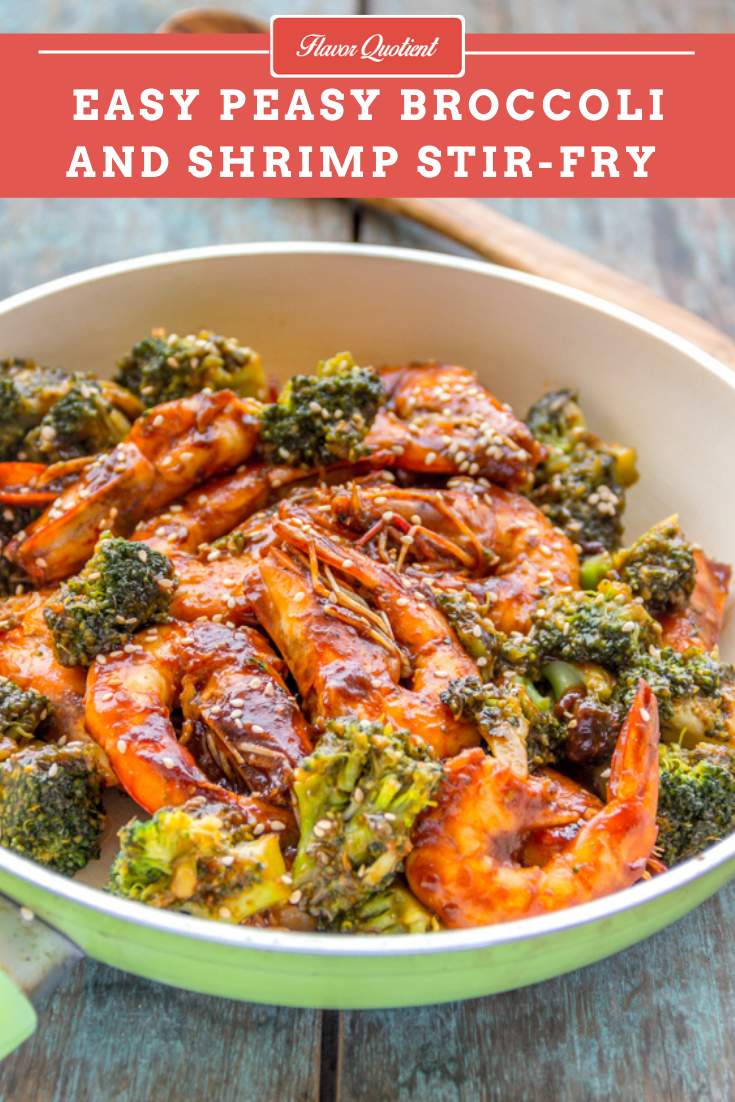 Easy Peasy Broccoli and Shrimp Stir Fry | Flavor Quotient | The simplest and tastiest broccoli and shrimp stir-fry recipe is here to rock! My favorite shrimps are teamed up with healthy broccoli to take you to a pleasurable culinary journey!