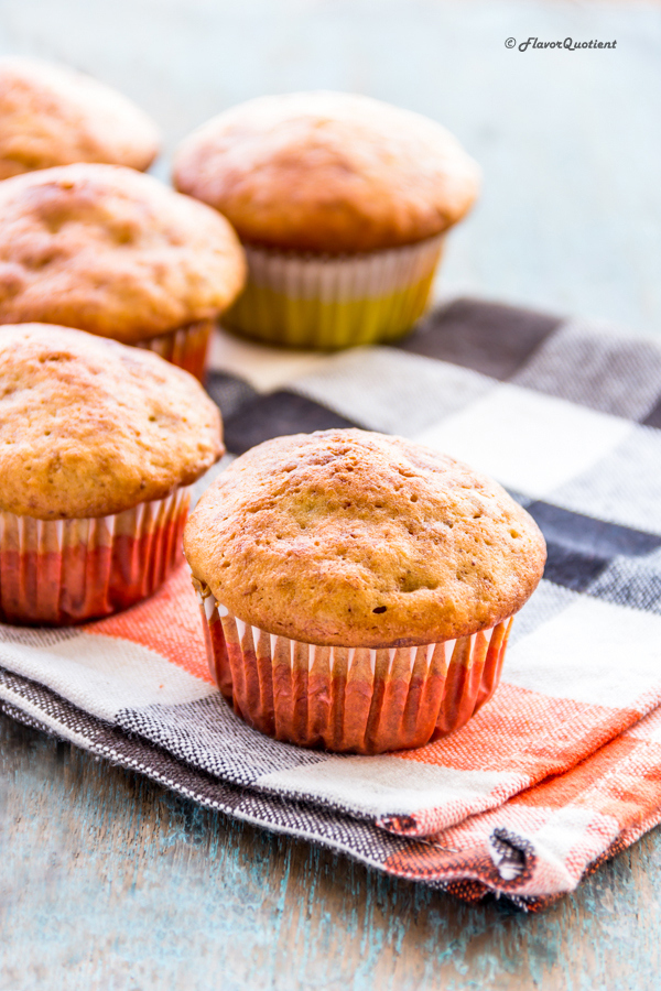 Best Banana Muffin | Flavor Quotient | This simple to make yummy banana muffin will not only save those over ripe bananas but will also impress your surprise guests to the core!