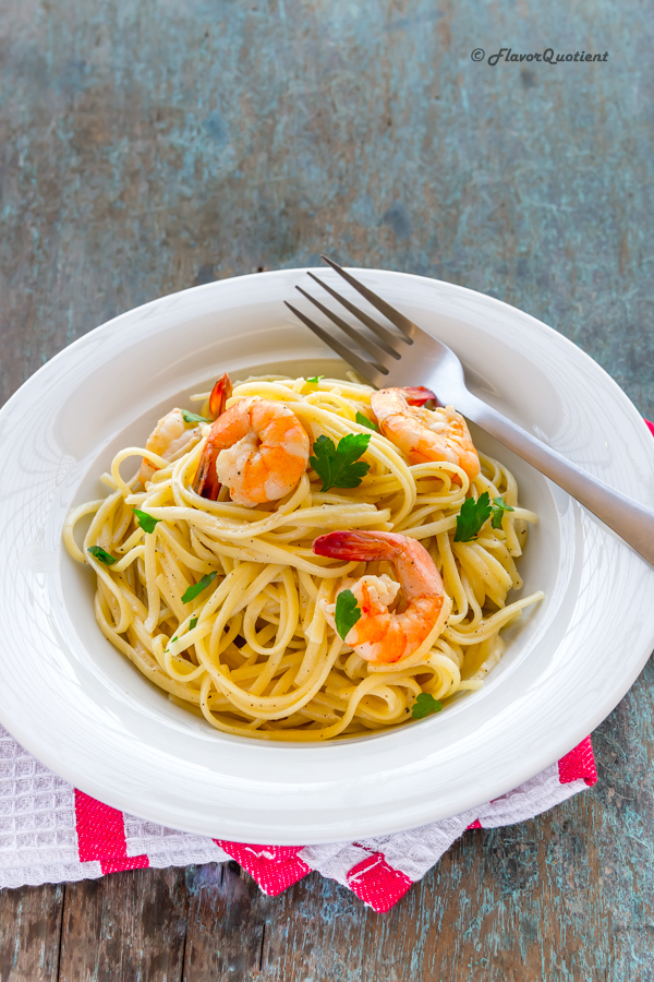 Creamy Linguine with Prawns