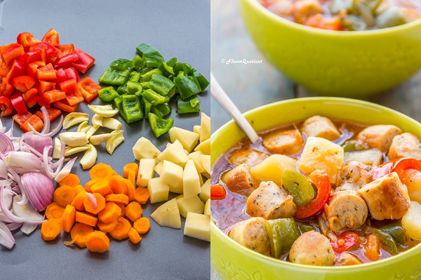 chicken sausage stew