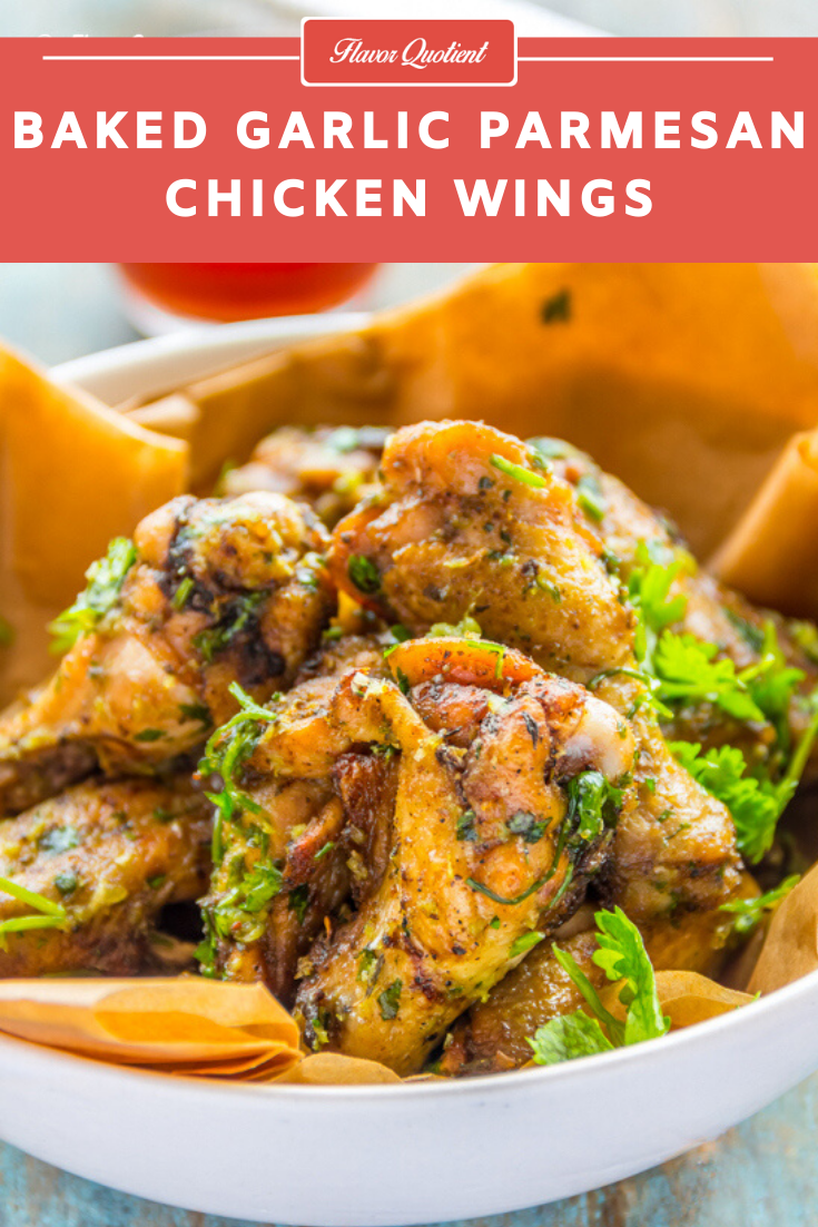 Baked Garlic Parmesan Chicken Wings | Flavor Quotient | A superbly easy and quick baked garlic parmesan chicken wings recipe to keep handy for that sudden party when your friends self-invite themselves only because of the popularity of your culinary skills and you can't let yourself disappoint them!