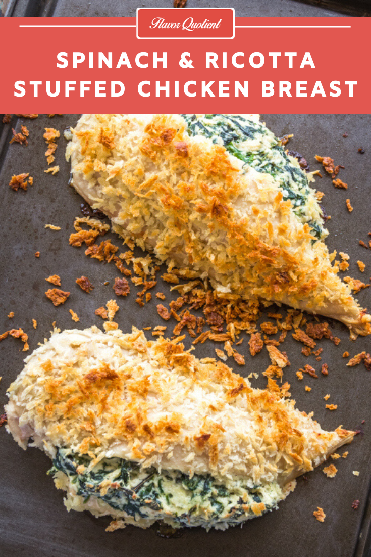 Spinach and Ricotta Stuffed Chicken Breasts | Flavor Quotient | If you are looking for a fancy yet comfort meal to enjoy in the coziness of your home, then look further than this stunning spinach & ricotta stuffed chicken breasts! It is indeed the best baked chicken breast recipe!