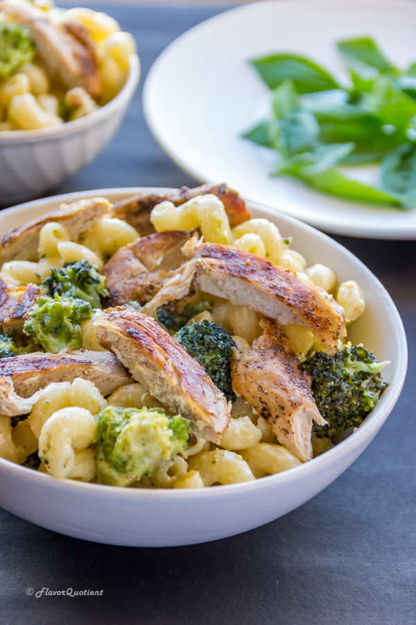 Broccoli and Chicken Pasta with White Sauce | Flavor Quotient | An easy yet flavor loaded broccoli & chicken pasta with white sauce is my favorite go-to pasta dish when it comes to fuss-free yet delicious meals.