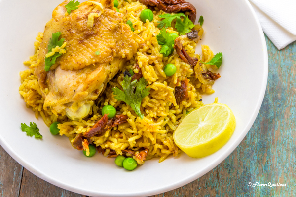 One Pot Curried Chicken and Rice | Flavor Quotient | This one pot chicken and rice is a one pot wonder in true sense; this curried chicken and rice is loaded with amazing flavors and can please a crowd with minimal effort!