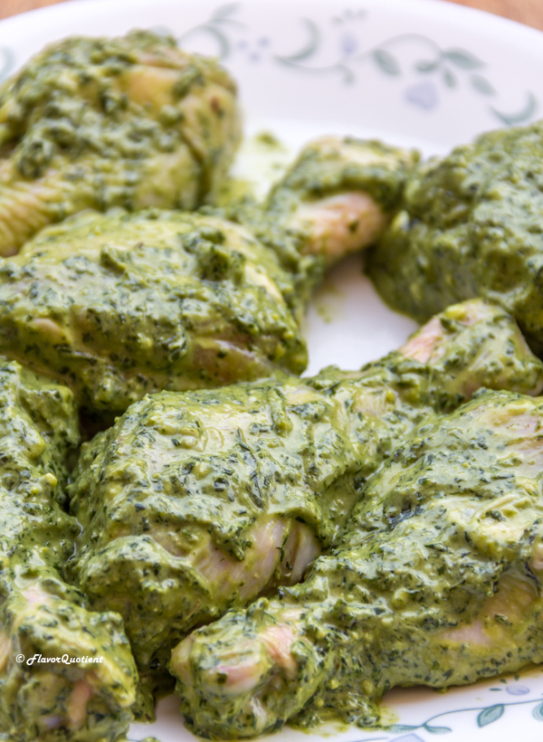 Pesto Roasted Chicken Marination