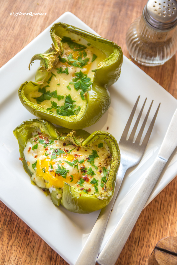 Baked Eggs In Peppers
