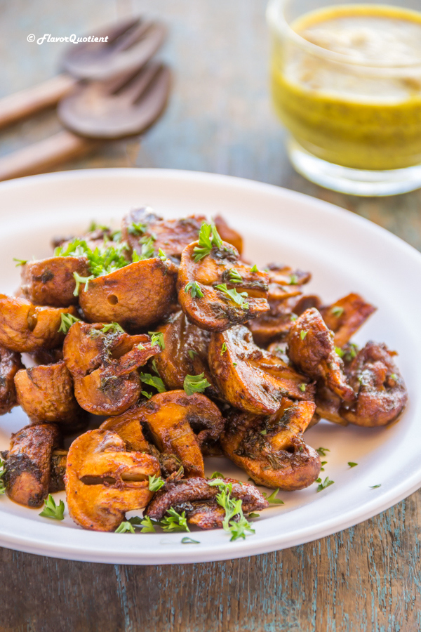 Easy spicy grilled mushrooms video recipe flavor quotient grilled mushrooms forumfinder Gallery