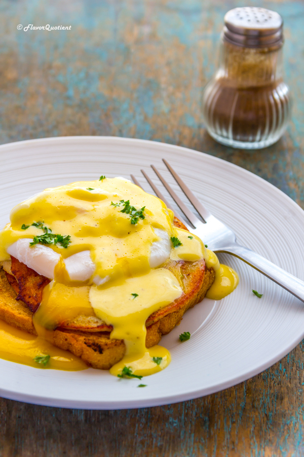 Best Ever Eggs Benedict | Flavor Quotient | The classic eggs benedict gets a makeover in my kitchen but with the handsome Hollandaise sauce, it is still the best breakfast ever, even if it's not one of the most authentic versions!