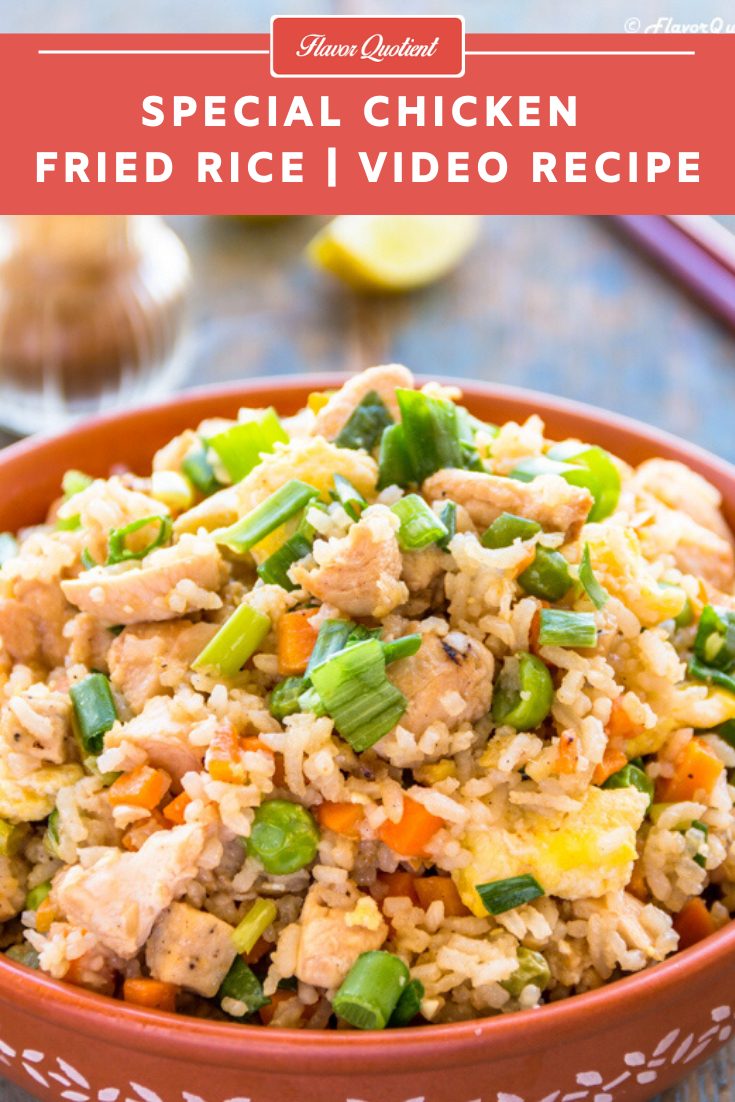 Special Chicken Fried Rice *Video Recipe* | Flavor Quotient | This really special chicken fried rice is loaded with lots of veggies, eggs and meats making it a yummy and fulfilling one pot meal!