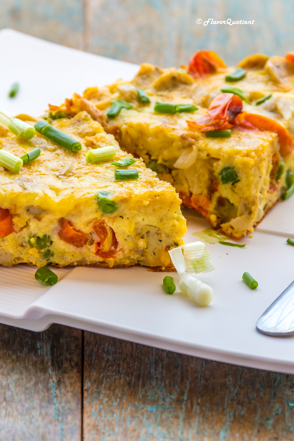 Tomato & Sausage Frittata *Video Recipe* | Tomato & Sausage frittata is the best breakfast you can ever think of. It is high on protein as well as fiber and simply great in taste! What can beat a good frittata!