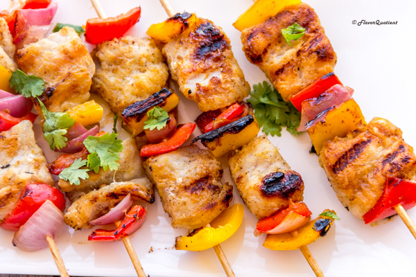smoky fish kebab