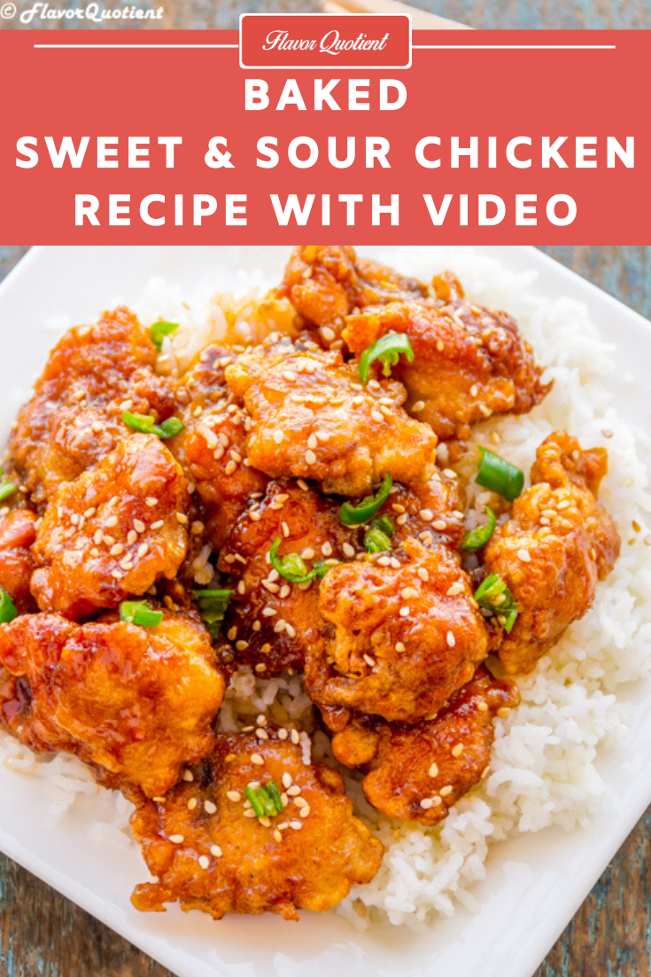 Baked Sweet and Sour Chicken | Flavor Quotient | Baked sweet and sour chicken is the trendiest thing on internet at the moment and for very good reasons! They are incredibly tasty and utterly easy to make! Here is how!