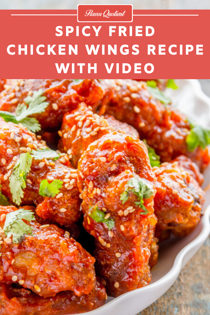 Spicy Fried Chicken Wings | Flavor Quotient | Crispy and spicy fried chicken wings are that sinful snacks which you will get addicted to as soon as you take its first bite and will miserably fall for it!
