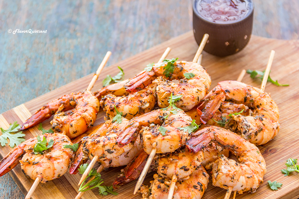 Chili Lime Grilled Shrimp | Flavor Quotient | This super easy chili lime grilled shrimp is the perfect fix for a large gathering and your guests will have another reason for not leaving soon!