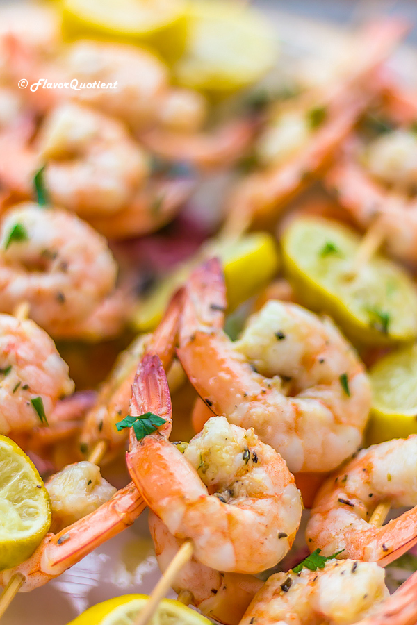 Copycat Damn Delicious Shrimp Kabobs | Flavor Quotient | These copycat shrimp kabobs from one of my favorite blogs Damn Delicious are really damn delicious beyond explanation! Try it to believe it!