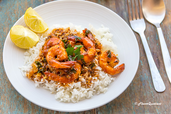 Spicy New Orleans Shrimps | Flavor Quotient | This spicy New Orleans shrimps is my new-found love and I can't get over it. A classic shrimp recipe, this New Orleans style shrimp is a must for your recipe repertoire!