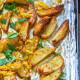 Roasted Garlic Potato Wedges *Video Recipe*