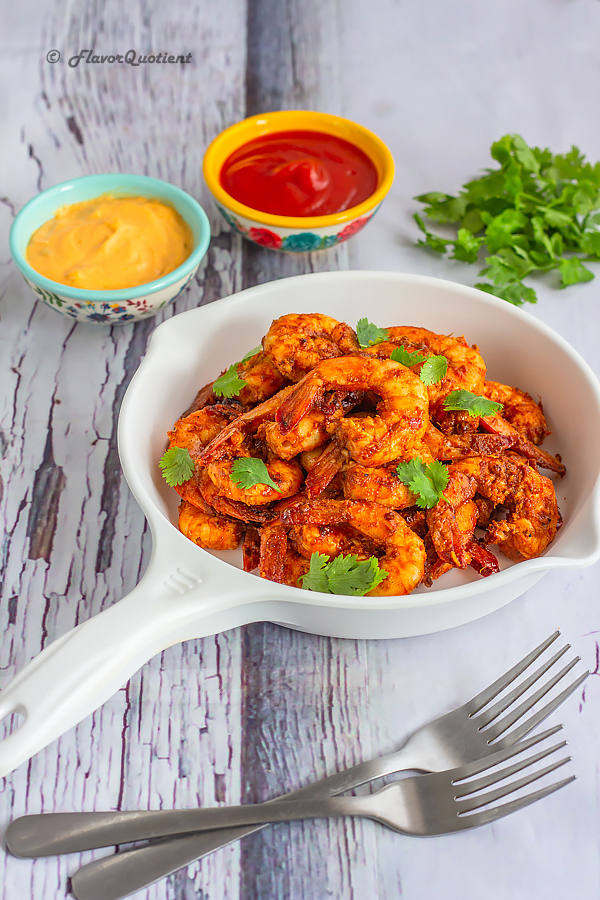 Thai Spiced Barbecue Shrimp | Flavor Quotient | The Thai spiced barbecue shrimp is a terrific twist on the regular grilled shrimps and thanks to its addictive Thai flavor, you can't ever have enough of this!