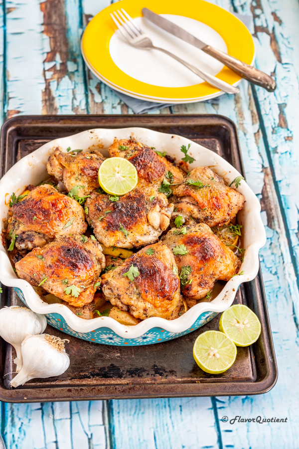 Garlic Butter Baked Chicken Thighs