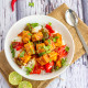 Sweet and Sour Tofu | Vegan Stir Fried Tofu Recipe