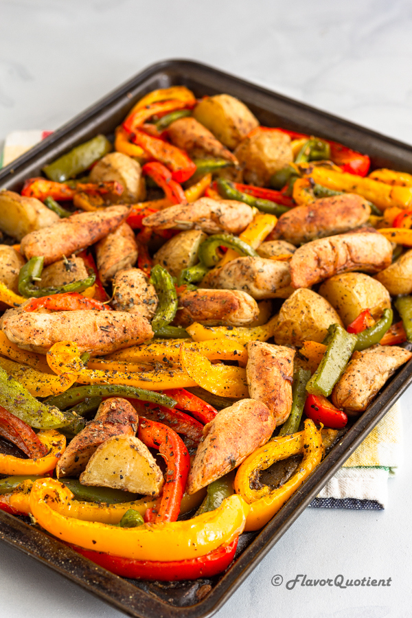 baked sausage and pepper