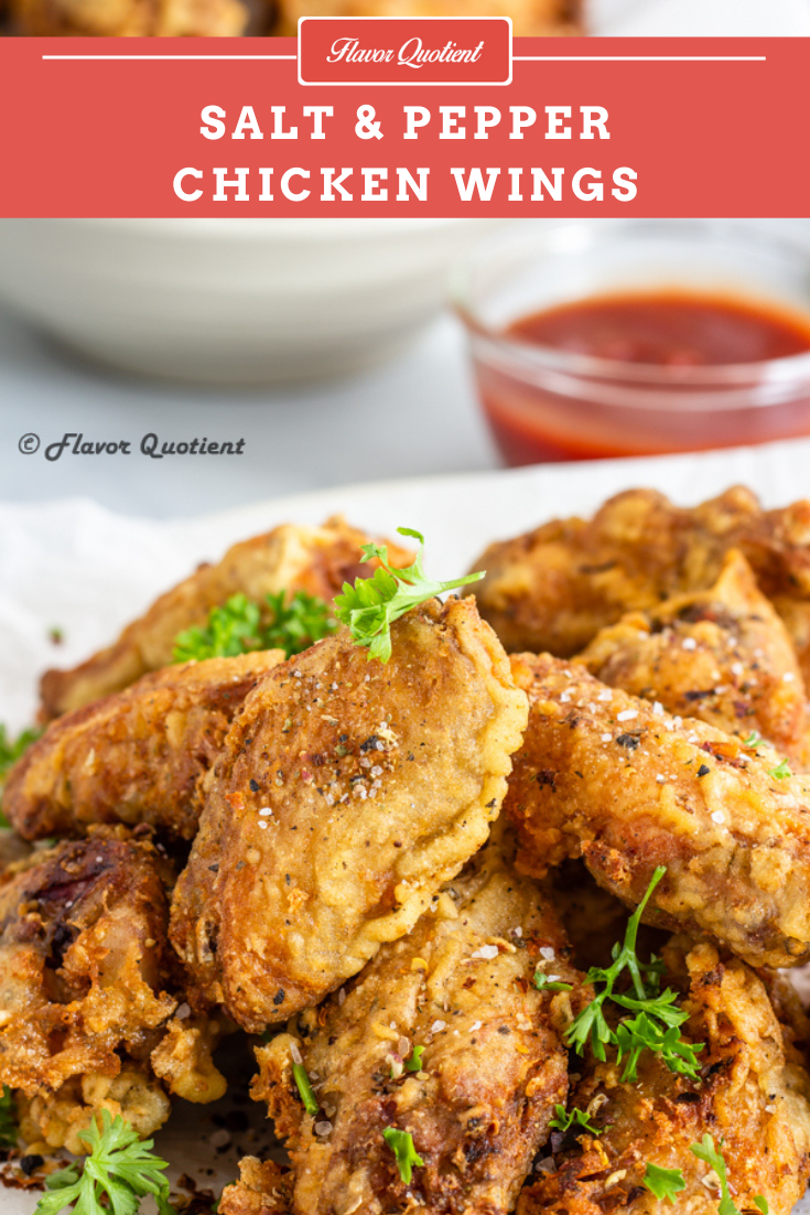 Salt and Pepper Chicken Wings | Flavor Quotient | Super crispy salt and pepper chicken wings contain a burst of flavors from mix of three peppercorns which add their own signatures to these crispy fried salt and pepper chicken wings!