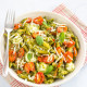Basil Pesto Pasta with Bocconcini and Roasted Cherry Tomatoes