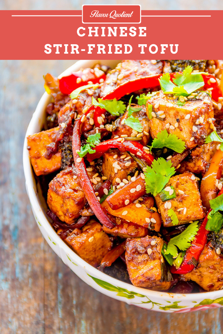 Chinese Stir Fried Tofu | Flavor Quotient | For all the tofu lovers, here is my quick & easy Chinese stir fried tofu recipe! It's the perfect weeknight meal or take away lunch which is not only tasty but packed with balanced nutrition!
