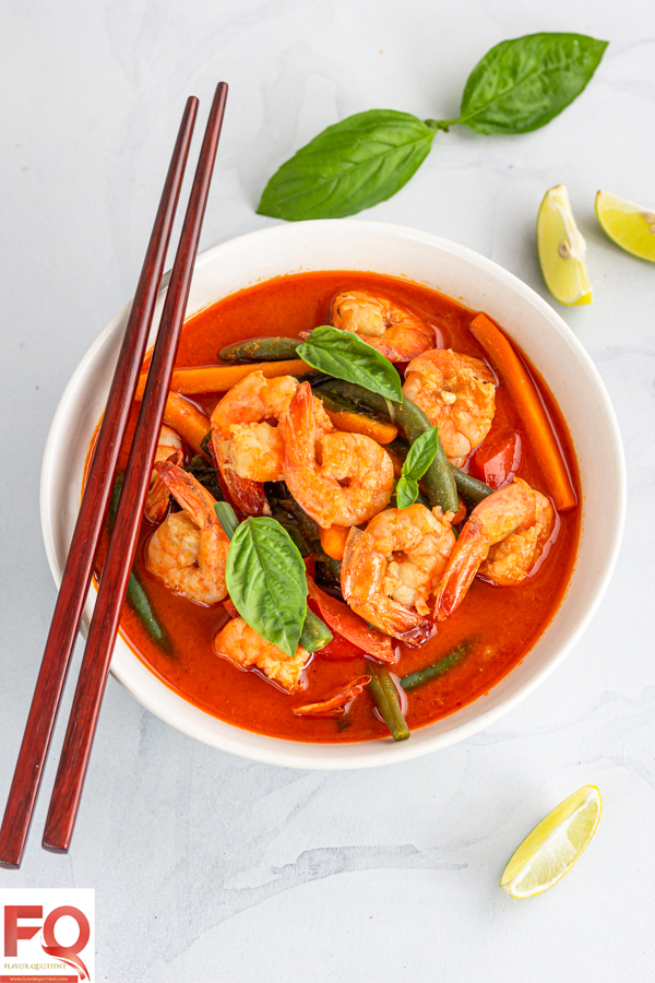 Thai prawn red curry