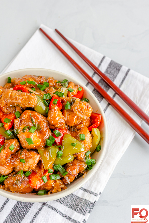 Sweet and Sour Chicken - Flavor Quotient: The Asian inspired sweet and sour chicken with perfect balance of sweetness and tartness is my ultimate go-to dish on a busy weeknight!