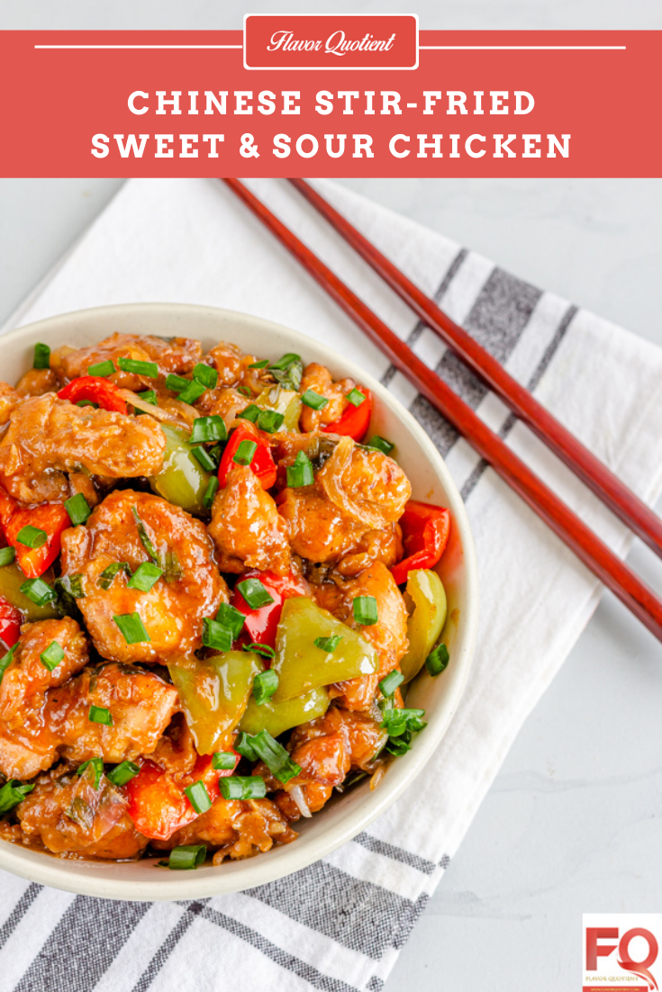 Chinese Sweet and Sour Chicken | Flavor Quotient | The Asian inspired sweet and sour chicken with perfect balance of sweetness and tartness is my ultimate go-to dish on a busy weeknight!