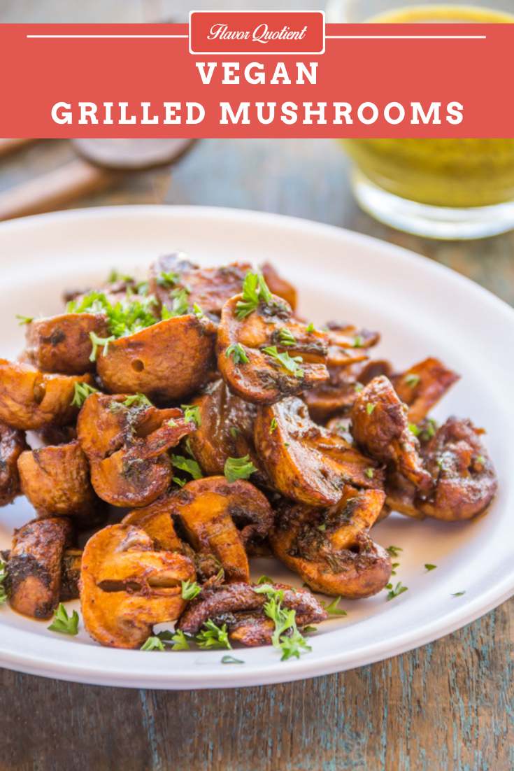 Easy & Spicy Grilled Mushrooms *Video Recipe* | Flavor Quotient | These grilled mushrooms are so delicious that you won't be able to believe it can be turned out so fast!