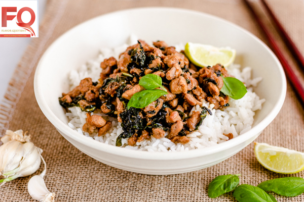 Thai Chilli Basil Chicken | Pad Ka Prao Gai | Flavor Quotient | A classic Thai delicacy, this Thai chilli basil chicken is a must-have recipe in your repertoire especially if you love Thai food as much as I do!