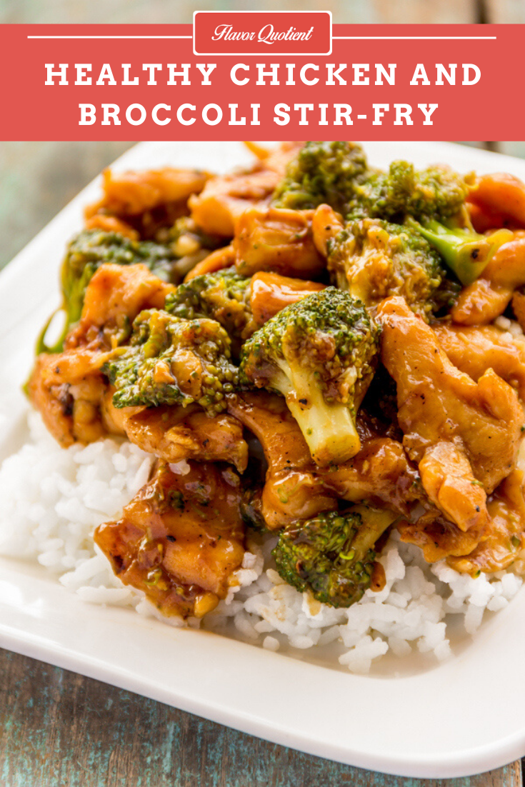 Healthy Chicken & Broccoli Stir Fry | Flavor Quotient | This quick and easy chicken & broccoli stir fry is a super meal in itself. It is an absolute win-win recipe with a high deliciousness quotient!