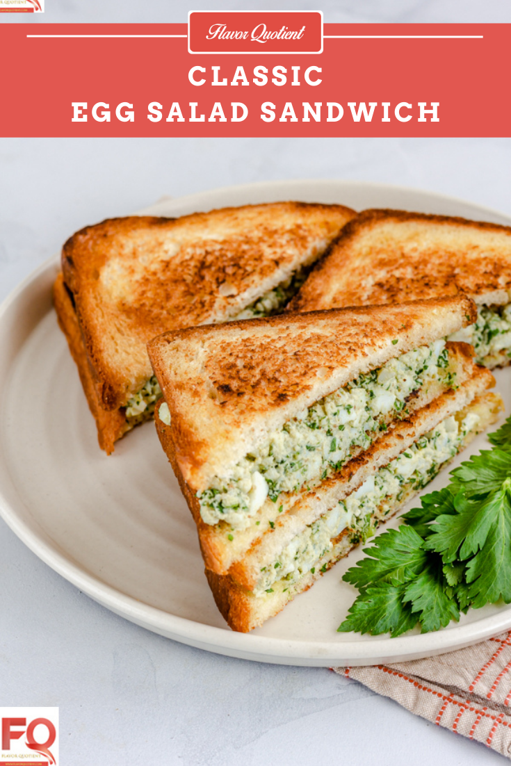 Egg Salad Sandwich | Flavor Quotient | If you are looking for a tasty yet simple breakfast, then this classic egg salad sandwich with its creamy and eggy filling will fit into your meal perfectly!