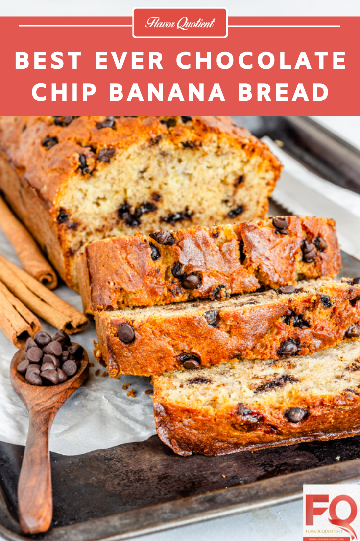 Best Ever Chocolate Chips Banana Bread | Flavor Quotient | Chocolaty goodness with moist banana bread is the blissful match made in heaven – you gotta try this chocolate chips banana bread now!