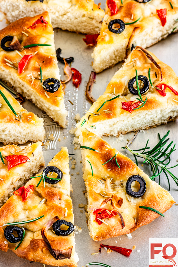 Italian Focaccia bread   Flavor Quotient   Keeping up with my bread baking enthusiasm, today I have the most epic Italian bread for you all which is none other than focaccia! Focaccia is the most flavorful bread I have tried till date and thankfully it is very easy to make!