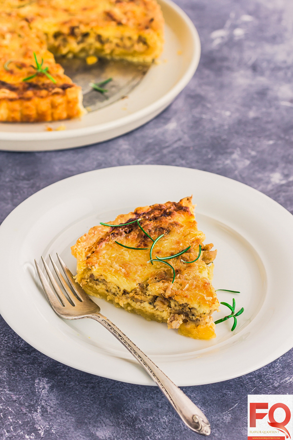 This classic chicken quiche from French cuisine will light up your mood on any gloomy day and make everything around you look beautiful! Making chicken quiche from scratch has been a dream come true!| Chicken Quiche recipe | Chicken Quiche recipes easy | Spinach Chicken Quiche | Chicken Quiche recipes healthy | Chicken Quiche crustless | Chicken Quiche healthy | broccoli Chicken Quiche | mexican Chicken Quiche