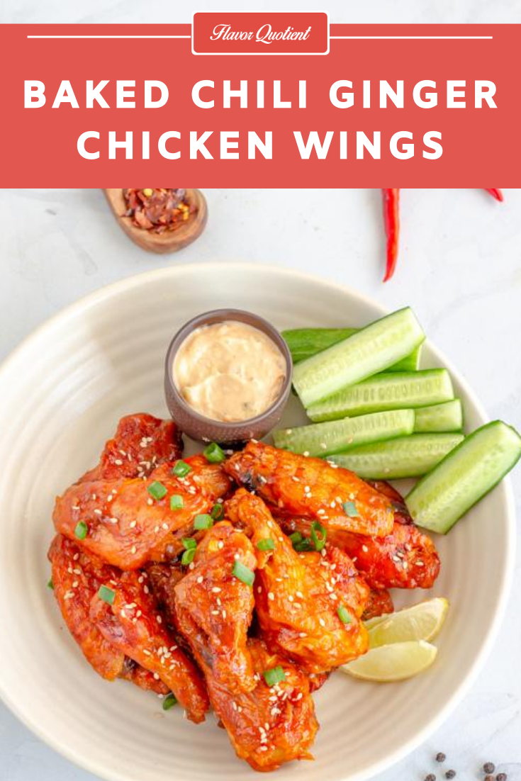 Looking for a new variety of crispy baked chicken wings which are finger-licking-good? These chili ginger chicken wings baked in oven are just the right answer to your hunt! | baked chicken wings | crispy baked chicken wings | chilli ginger baked chicken wings | Oven baked chicken wings | baked chicken wings recipes | easy baked chicken wings | best baked chicken wings | extra crispy baked chicken wings | How to make baked chicken wings